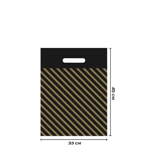 Takviyeli Siyah Çizgili Poşet 33x45 (No:3) - 50'li
