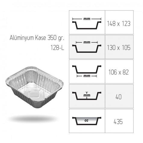 Alüminyum Kase 350 gr. - 100'lü