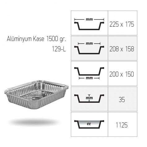 Alüminyum Kase 1500 gr. - 100'lü
