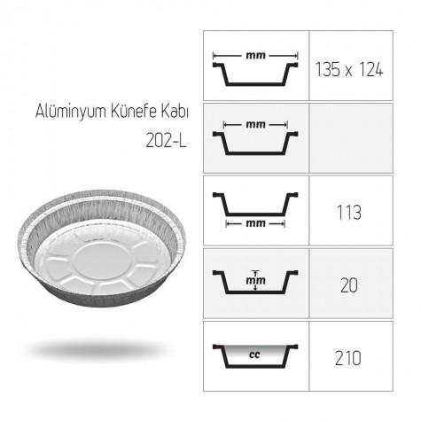 Alüminyum Künefe Kabı - 100'lü