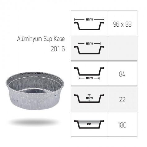 Alüminyum Sup Kase 180 cc - 100'lü