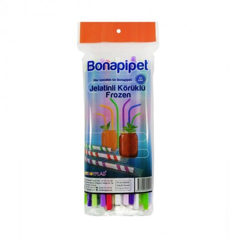 Bona Jelatinli Körüklü Frozen Plastik Pipet - 5000'li