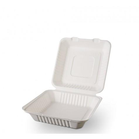 Ekolojik Karton Kapaklı Hamburger Kabı - 25 Adet