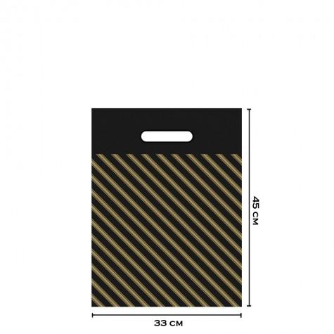 Takviyeli Siyah Çizgili Poşet 33x45 (No:3) - 1000'li