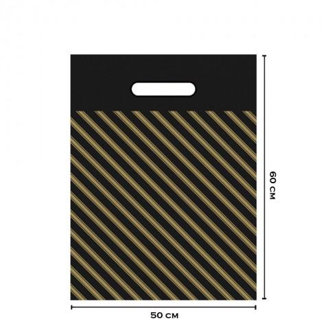 Takviyeli Siyah Çizgili Poşet 50x60 (No:5) - 750'li