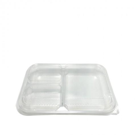 Özge Plastik Kapaklı Kebap Kabı 3 Bölmeli - 75'li