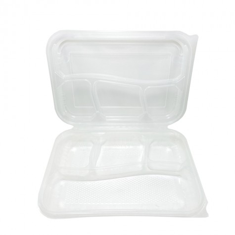 Özge Plastik Kapaklı Kebap Kabı 4 Bölmeli - 75'li