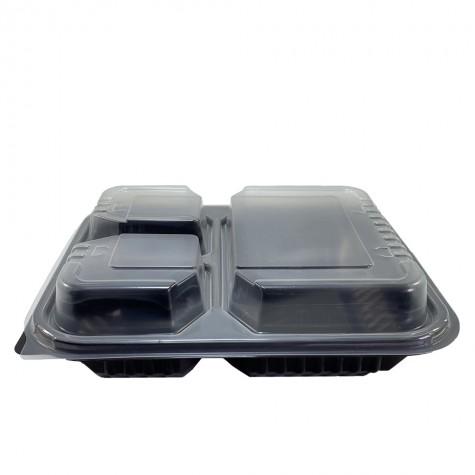 3 Bölmeli Kapaklı Gıda Kabı (Sıcağa Dayanıklı) - 50'li