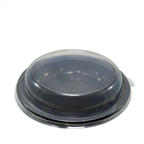 Kapaklı Siyah Salata Kasesi 1000 gr - 80'li