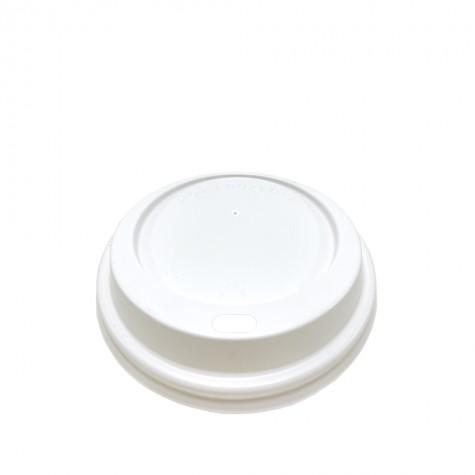 Ø80 Emzik Kapaklı Seçenekli Sıcak İçecek Kapağı Beyaz 100'lü