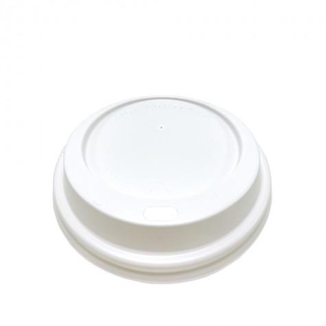 Ø90 Emzik Kapaklı Seçenekli Sıcak İçecek Kapağı Beyaz 100'lü