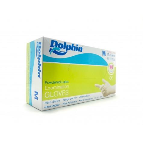 Dolphin Lateks Eldiven Pudralı - Orta (M) - 100'lü