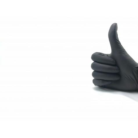 Green Pudrasız Siyah Nitril Eldiven - Küçük (S) - 100'lü