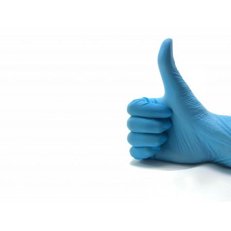 Dolphin Pudrasız Mavi Nitril Eldiven - Küçük (S) - 100'lü