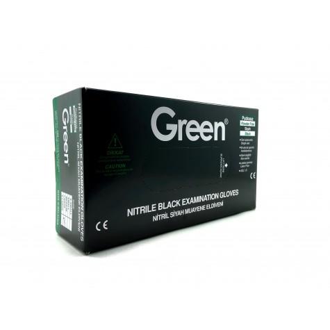 Green Pudrasız Siyah Nitril Eldiven - Büyük (L) - 100'lü
