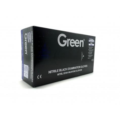 Green Pudrasız Siyah Nitril Eldiven - Orta (M) - 100'lü